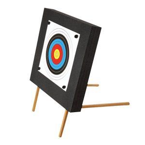Zielscheibe 60x60x10cm mit Holzständer
